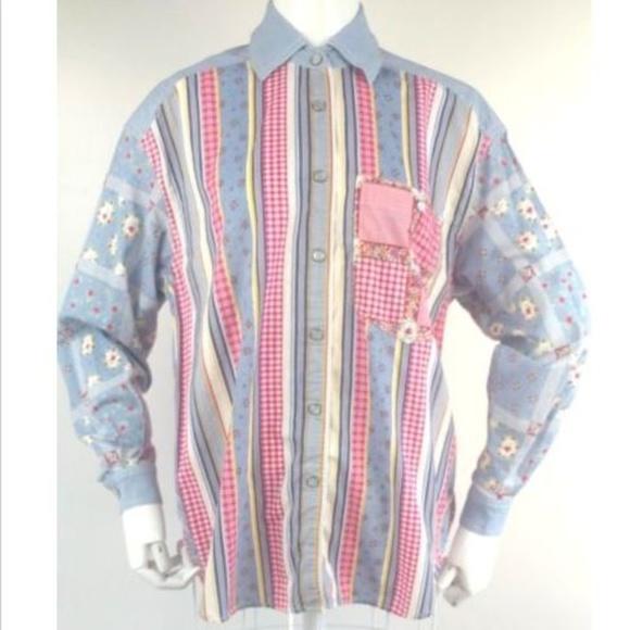 647e86d7 Vintage Tops | Vtg 80s 90s Western Shirt Liz Claiborne Snap Front ...